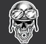 3'' Helmet Skull Decal Graphic for Honda Kawasaki Suzuki Yamaha Harley