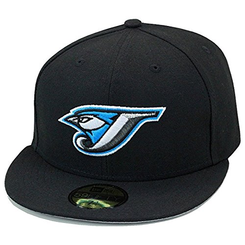 first rate 586e6 c2beb authentic new era 59fifty toronto blue jays authentic baseball hat cap all  black 2004 old logo