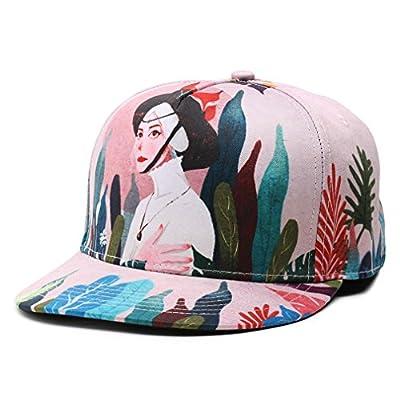 Cartoon Print Adjustable Baseball Cap Everyday Travel Hat with Beauty