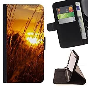 DEVIL CASE - FOR Apple Iphone 4 / 4S - Sunset Beautiful Nature 61 - Style PU Leather Case Wallet Flip Stand Flap Closure Cover