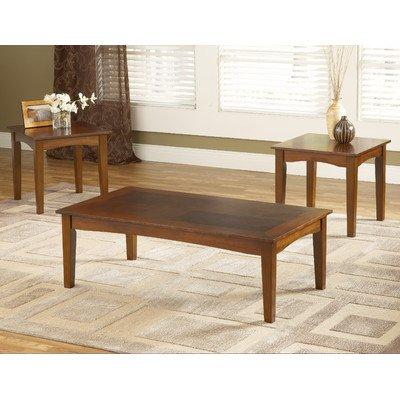 Bernards Furniture Cherry (Bernards 8110 Brown Cherry Promo 3 Pack Occasional Tables (Set of 3))