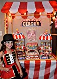 Oojami Red & White Stripes Carnival Theme Party