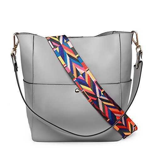 CALLAGHAN Women Genuine Leather Tote Purse Handbags Designer Bucket Shoulder Bags for Ladies