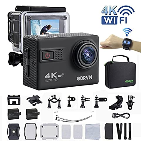 4k Action Camera Wifi with 2.4G Remote Control Underwater Camera Digital Waterproof Sports Camera 1080P/60fps and 70-170 Wide Angle Lens for motorcycle, kids,Drone,Helmets,Diving and Water (Waterproof Camera With Zoom)