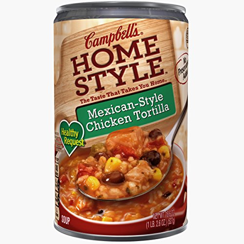 Campbell's Homestyle Healthy Request Soup, Mexican-Style Chicken Tortilla, 18.6 Ounce (Pack of ()