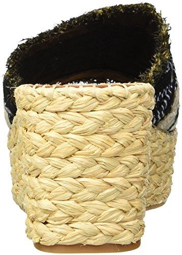 Raffia Damen Vita Multi Dolce Wedge Lupe Schwarz Sandal xZwzz5q0U