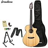 Breedlove PURSUIT-NY Pursuit Nylon Acoustic-Electric Guitar with Strap, Stand, Picks, Tuner, Cloth and Gig Bag