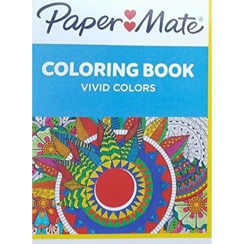 Paper Mate 33 Count Coloring Kit Gel Pens Pencils Hard Case Coloring Book New!