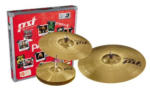 Paiste PST 3 Cymbal Universal Set Only Setup 14-inch/16-inch/20-inch by Paiste