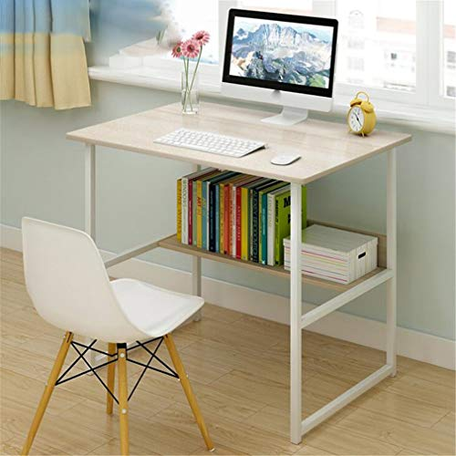 Simple Small Table Computer Desk Desk Bedroom Writing Desk Desk 80x40x73cm North American Maple Color ()
