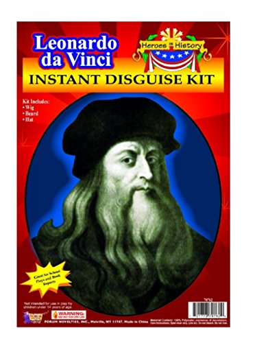 Child Heroes in History Instant Disguise Kit - Leonardo Da Vinci - Wig, Beard, and (Kids Leonardo Costumes)