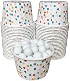 Outside the Box Papers Polka Dot Candy/Nut Mini Baking Cups 48 Pack Red, White, Blue, Yellow