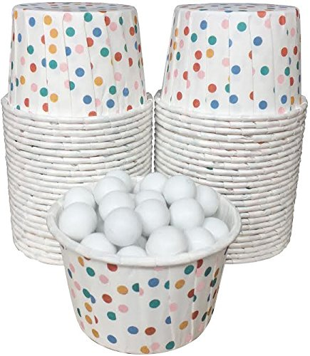 Polka Dot Candy Nut Mini Baking Paper Treat Cups - Multicolor - 48 Pack -