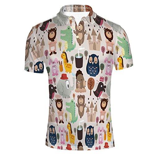 (iPrint Princess Palace Carriage Magical Starry Night Polo T-Shirts)