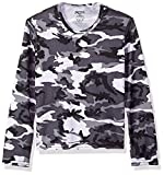 Hot Chillys Youth Pepper Skins Print Crewneck, Storm, Small