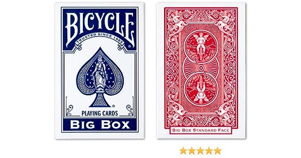 Gran Bicicleta Big Box Juego de Cartas de Juego (un Azul Cubierta y uno Rojo baraja): Amazon.es: Deportes y aire libre