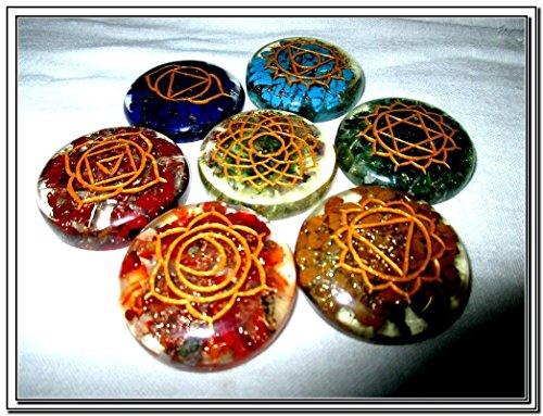 Chakra Engraved Orgone Crystal Gemstones