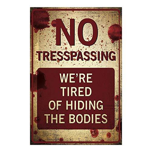 Ranoff Metal Poster No Trespassing Retro Metal Sign Flag Plaque Bar Club Cafe Garage Wall Decor Art ()