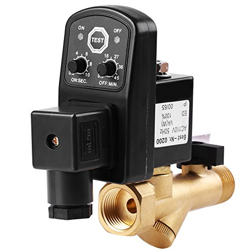 "1/2"" Automatic Electronic Timed Drain Valve for Air Compressor Condensate Management Water Tank Direct-Acting Drain Valve G1 / 2(DN15)(AC110V)"