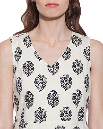 Vêtements pour femmes Robe en coton imprimé, lavable en machine, W-CPD44-1631, Taille-44 pouces