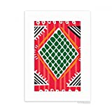 DIYthinker Red Green Line Mexico Totems Ancient Civilization Desktop Photo Frame Picture White Art Painting 5x7 inch