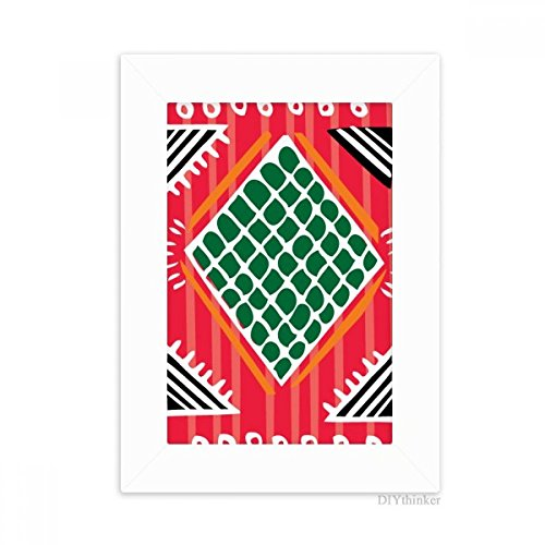 DIYthinker Red Green Line Mexico Totems Ancient Civilization Desktop Photo Frame Picture White Art Painting 5x7 inch by DIYthinker