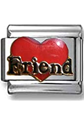 Friend Heart Italian charm