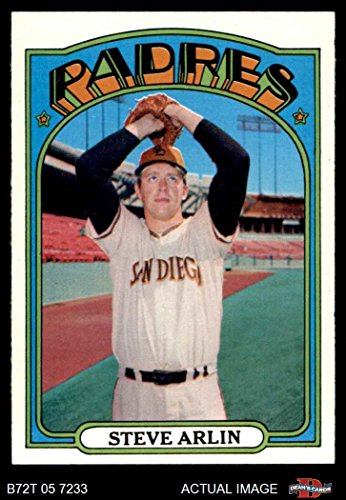 1972 Topps # 78 Steve Arlin San Diego Padres (Baseball Card) Dean's Cards 7 - NM Padres