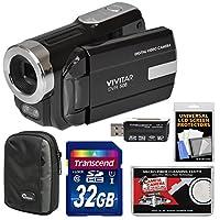 Vivitar DVR-508 HD Digital Video Camera Camcorder with 32GB Card + Case + Kit
