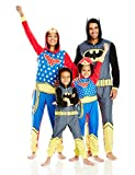 DC Comics Little Boys' Toddler Family Cosplay Union Suit, Gray, 2T