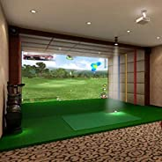 Pro Series Indoor Golf Simulator Impact Screen and Golf Archery Net Package for Home