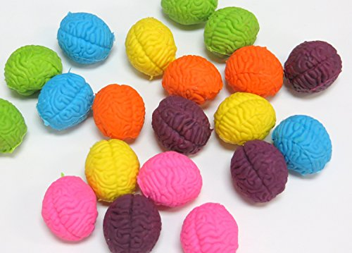 FunEx Brain Shaped Erasers Lot of 20]()