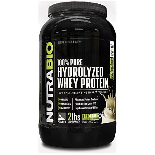NutraBio 100% Pure Protein lactosérum hydrolysée (deux kilos de vanille) - Ultra absorption rapide Source de protéines.