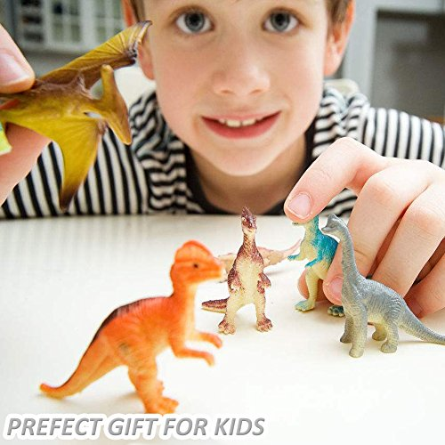 OuMuaMua Dinosaur Figure Toys 78 Pack - Plastic Dinosaur Set for Kids and Toddler Education, Including T-rex, Stegosaurus, Monoclonius, etc