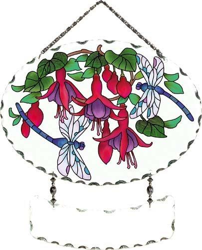 Joan Baker Designs Dragonflies & Fuchsias Suncatcher ()