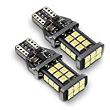 921 LED Bulb Backup Lights, 912/T15 Reverse Lights, SEALIGHT Error Free Non-polarity High Power 24 LED Chipsets 1600 Lumens Cool White Xenon 6000K, 1 Yr Warranty (Pack of 2)
