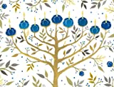 Chanukah Tree of Lights Holiday Embellished Notecards, , 0735341184