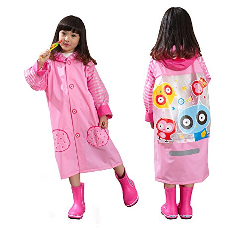 Ezyoutdoor Unisex Kids Pink/Blue/Yellow Children Hooded R...