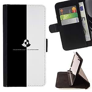 Momo Phone Case / Flip Funda de Cuero Case Cover - Valar Morghulis Valar Dohaeris;;;;;;;; - Sony Xperia Z5 Compact Z5 Mini (Not for Normal Z5)
