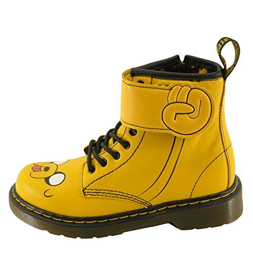 Juniors Dr. Martens Adventure Time Jake D Boots (Kid's US Size: 3, Yellow Softy T)