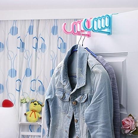 Puerta posterior del gancho de plástico, cartera, ropa, estante del almacenaje de las