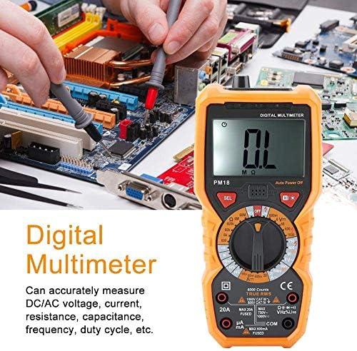 Multimeter, PM18 Volt Meter Manual Auto Ranging; Measures Voltage Tester, Current, Resistance; Transistors, Temperature Electrical Testing Voltage Testers Baibao