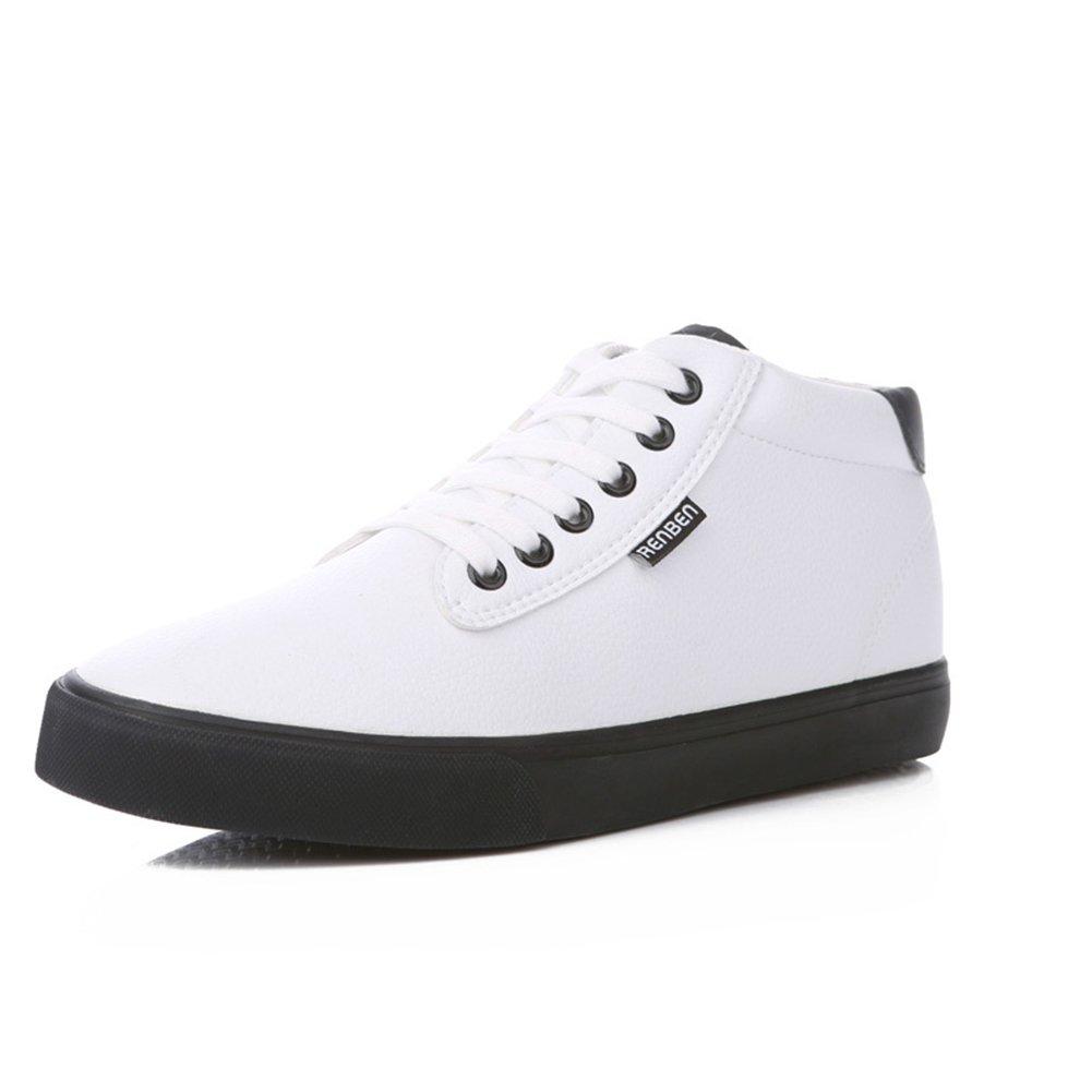 YIXINY Schuhe Turnschuhe 7505 Flache Schuhe Der Neuen Art Und Weise Der Winterbaumwollstiefel-Männer (Farbe   Weiß, größe   EU41 UK7.5-8 CN42)