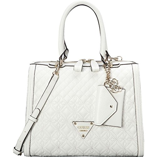 Borsa a mano Donna Guess Mod. SUNSET QUILTED SATCHEL BAG VG493306 Col. Bianco.
