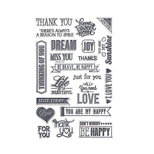 Money coming shop Transparent Stamp Clear Stamp Love Style Pattern Stripe DIY Scrapbooking/Card Making/Christmas Decoration (Mickey Mini Album)