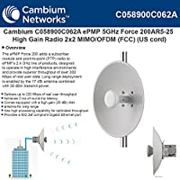 Cambium Networks - ePMP 5 GHz Force 200AR5-25 High Gain Radio - C058900C062A