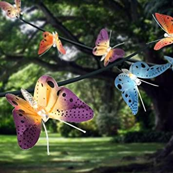 12 led solar powered fibre optic butterfly garden fairy string 12 led solar powered fibre optic butterfly garden fairy string outdoor lights shopmonk mozeypictures Images
