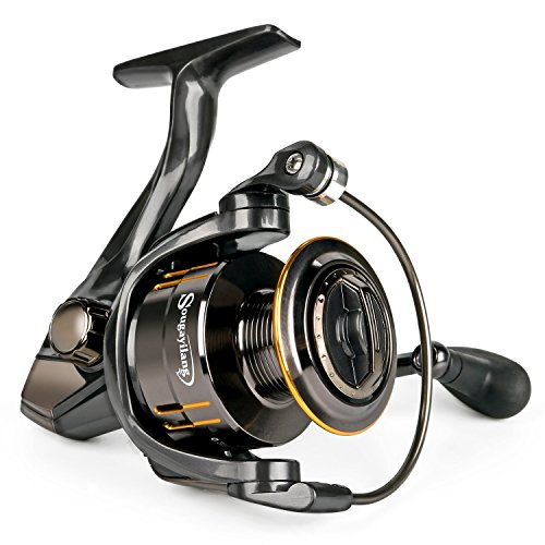 Sougayilang Fishing Reel, Light Smooth Bass Gear Spinning Casting Left Right Saltwater Freshwater Fishing Reels