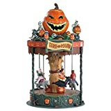 #9: Lemax 2018 EERIE-GO-ROUND Halloween Moveable Merry Go Round With Sound