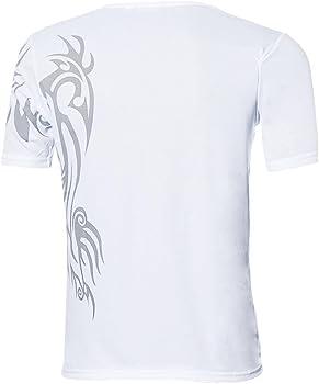 Camiseta para Hombre, ❤️Xinantime Camisetas de Manga Corta Hombres Deportes Tees Camisa de Fondo con diseño Delgado Camiseta Reductora Compresion de Sauna Deportivo, M-3XL (M, Blanco): Amazon.es: Ropa y accesorios